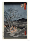 New Year's Eve Foxfires at the Nettle Tree, Oji', from the Series, 'One Hundred Famous Views of Edo Giclee Print by Hashiguchi Goyo