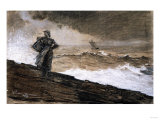 At High Sea, Charcoal and White Chalk on Buff Paper Laid Down on Board, 1884 Posters by Winslow Homer