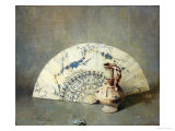 The Fan Premium Giclee Print by Soren Emil Carlsen
