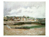 Afternoon, the Duquesne Basin at Dieppe, the Sea-Bed, 1902 Posters by Eugène Boudin