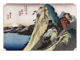The Lake at Hakone&#39;, from the Series &#39;The Fifty-Three Stations of the Tokaido&#39; Giclee Print by Ando Hiroshige