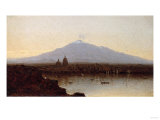 Sunset at Catania, Sicily Premium Giclee Print by Sanford Robinson Gifford