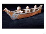 A Makah Hunting Canoe Model Giclee Print