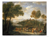 An Extensive Italianate Landscape, with a Sacrifice, 1728 Giclee Print by Arnold Boonen