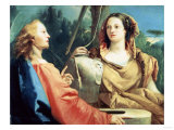 Christ and the Samaritan Woman Giclee Print by Joseph Bail