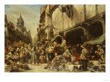 The Market Place, 1862 Art by Leon Bakst