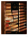 A Hand Made Cedar Armoire Containing Boxed Cigars Giclee Print
