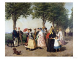 The Promenade Park Giclee Print by Alfred Thompson Bricher