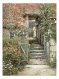 Under the Old Malthouse, Hambledon, Surrey Gicl&#233;e-Druck von Helen Allingham