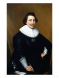 Portrait of a Gentleman Wearing a Black Costume with a White Ruff, 1630 Giclee Print by Jan Brueghel the Elder