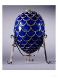 The Pine Cone Egg in Its Stand, Faberge, Workmaster Michael Perchin, 1900 Reproduction procédé giclée par Faberge