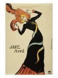 Jane Avril, 1899 Impression giclée par Mary Cassatt