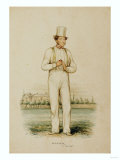 William Hillyer (1813-61), at Lords, Published 17th June 1850 Giclee Print by John Corbet Anderson