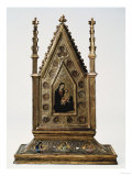 A Reliquary with the Madonna and Child and Saints. Oil on Gold Ground on Panel Giclee Print by Arnold Boonen