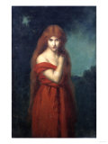 A Young Beauty in Red Giclee Print by Arnold Boonen