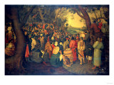The Preaching of Saint John the Baptist Premium Giclee Print by Hendrik Avercamp