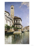 A Venetian Canal Scene, 1885 Giclee Print by Arnold Boonen