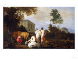 Landscape with Nymphs and a Milkmaid by a Palace Giclee Print by Vincente Carducho