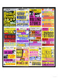 A Selection of British Concert Posters, 1960s Giclée-tryk
