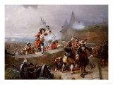 Storming the Battlements Poster by John Brett