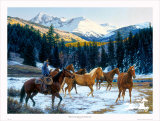 Where the Sun Shines on the Mountain Top Limited Edition by Tim Cox