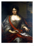 Portrait of Queen Catherine I of Russia (1684, 1730), Seated Three-Quarter Length, 1717 Lámina giclée por Arnold Boonen