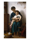 The Elder Sister, 1877 Premium Giclee Print by Joseph Bail