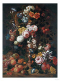 Roses, Dahlias, Convolvulus, a Tulip and Other Flowers, 1689 Posters by Sir William Beechey
