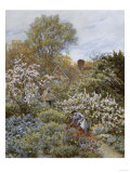A Garden in Spring Print by Helen Allingham