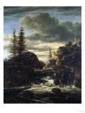A Norwegian Landscape, with a Cascade Waterfall Arte por  Andrea Di Bartolo