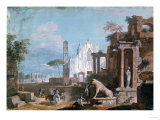 A Capriccio of Ruins with a Gothic Church Art by Vincente Carducho