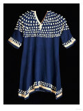 A Hunkpapa Sioux Girl's Dress of Blue Wool Cloth Trimed with Cowrie Giclee Print