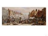 Market Day, Ashbourne, Near Derby Art by John Brett