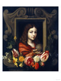 Christ as Salvator Mundi in a Niche Decorated with Flowers Giclee Print by Jan Brueghel the Elder