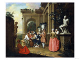 A Concert by a Portico, 1739 Giclee Print by Vincente Carducho