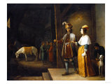 A Lady and a Gentleman Entering a Stable, 1647 Giclee Print by Arnold Boonen