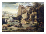 A Rocky Landscape with St. John the Baptist Giclee Print by Jan Brueghel the Elder