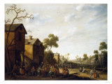 Peasants Merrymaking in a Village Street, 1646 Prints by Herri Met De Bles