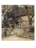 The Fiddler Giclee Print by Helen Allingham