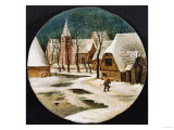 A Village in Winter Giclee Print by Hendrik Avercamp