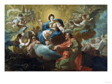The Madonna Appearing to Saint James at Zaragoza, 1760 Giclee Print by Vincente Carducho