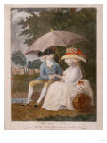 The Best Shelter, Under the Banner of Love, English School, Coloured Mezzotint, 1787 Prints by John Corbet Anderson