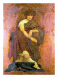 Mnemosyne, the Mother of the Muses Prints by Sir Lawrence Alma-Tadema