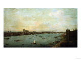 The City of Westminster from Lambeth, Circa 1746 Giclee Print by Filipo Or Frederico Bartolini