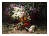 A Floral Still Life in a Wooded Landscape, 1870 Giclee Print by Arnold Boonen