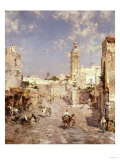 Figures in a Moorish Town Poster by Jean-Baptiste-Camille Corot