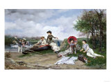 The Picnic, 1880 Giclee Print by Eugène Boudin