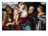 The Holy Family with Saint Catherine Poster by Vincente Carducho