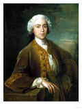 Portrait of Lord Trimleston, Half Length, in a Brown Coat, Leaning on a Ledge, in a Landscape, 1744 Premium Giclee Print by Cristofano Allori