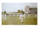 Cricket at Lords, after W.B. Wollen, Coloured Photogravure Dated 1896 Posters